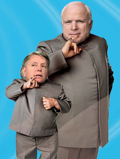 McCain Dr. Evil - Graham Mini Me