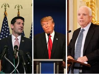 Trump - Ryan and McCain endorsement
