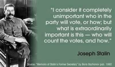 Stalin - who counts the vote