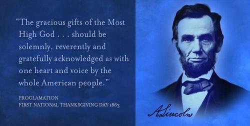 Image result for picture lincoln thanksgiving