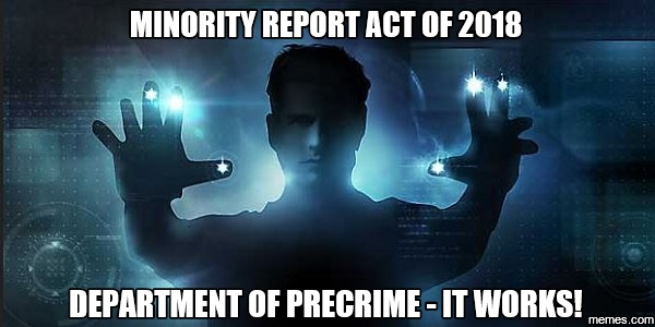Minority Report Act of 2018: A law guaranteed to end gun violence